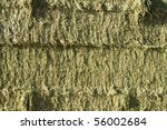 side view of square bales of... | Shutterstock . vector #56002684