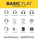 basic set of loudspeakers ... | Shutterstock .eps vector #560029516