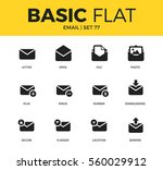 basic set of downloading form ... | Shutterstock .eps vector #560029912