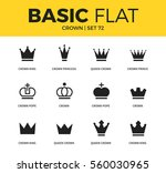basic set of crown pope form ... | Shutterstock .eps vector #560030965