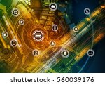 smart transportation technology ... | Shutterstock . vector #560039176
