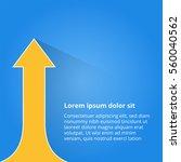 arrows business growth. vector...   Shutterstock .eps vector #560040562
