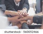 concept of teamwork. business... | Shutterstock . vector #560052466