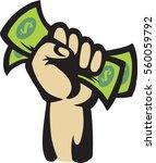 money hand   Shutterstock .eps vector #560059792