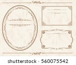 frame set vector  | Shutterstock .eps vector #560075542
