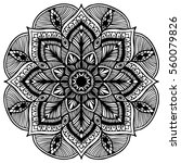 mandalas for coloring book.... | Shutterstock .eps vector #560079826