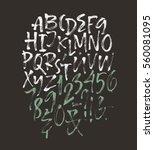 alphabet letters  uppercase ... | Shutterstock .eps vector #560081095