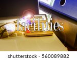 facilities word  text  with... | Shutterstock . vector #560089882