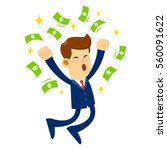 vector stock of a businessman... | Shutterstock .eps vector #560091622