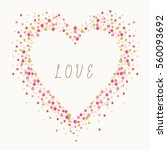 heart shaped illustration with...   Shutterstock .eps vector #560093692
