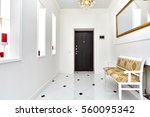 entrance hall  with a beautiful ... | Shutterstock . vector #560095342