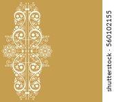 vector vintage floral ... | Shutterstock .eps vector #560102155