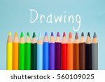 drawing text on background with ... | Shutterstock . vector #560109025