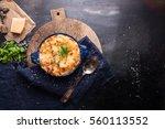lasagna in baking dish on an...   Shutterstock . vector #560113552