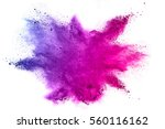 explosion of colored powder on... | Shutterstock . vector #560116162