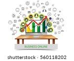 business digital marketing... | Shutterstock .eps vector #560118202
