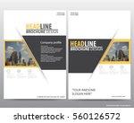abstract vector modern flyers...   Shutterstock .eps vector #560126572