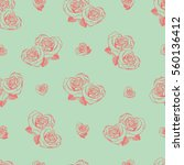 vector seamless pattern with... | Shutterstock .eps vector #560136412