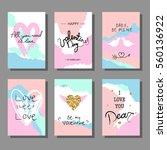 valentine s day creative... | Shutterstock .eps vector #560136922