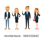 business people with gadgets | Shutterstock .eps vector #560152642