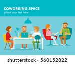 creative people working in co... | Shutterstock .eps vector #560152822