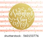 Gold Valentine Day Calligraphy...