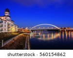apollo bridge in bratislava ... | Shutterstock . vector #560154862