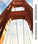 golden gate bridge pillar   Shutterstock . vector #560161462