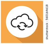 cloud storage vector icon   Shutterstock .eps vector #560164618