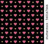 vector valentines day seamless...   Shutterstock .eps vector #560167666