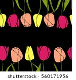 seamless pattern with pink... | Shutterstock .eps vector #560171956