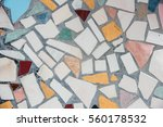abstract of colorful cracked... | Shutterstock . vector #560178532