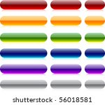 long and short oval glossy...   Shutterstock .eps vector #56018581