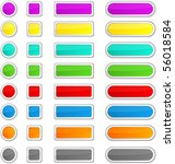 blank glossy color buttons.... | Shutterstock .eps vector #56018584