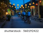 night view of busy street in... | Shutterstock . vector #560192422