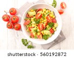 tomato and avocado salad   Shutterstock . vector #560192872