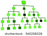 hierarchical structure  3d... | Shutterstock . vector #560208328