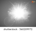 white glowing light burst... | Shutterstock .eps vector #560209972