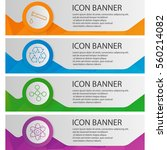 chemical lab banner templates... | Shutterstock .eps vector #560214082