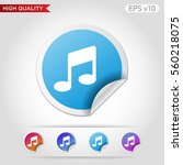 colored icon or button of music ... | Shutterstock .eps vector #560218075