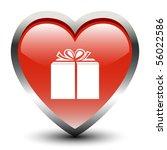 heart shape gift sign icon | Shutterstock .eps vector #56022586