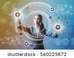 young business woman and... | Shutterstock . vector #560225872