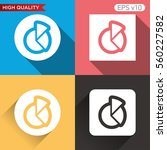 colored icon or button of graph ...