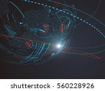 futuristic globalization...   Shutterstock .eps vector #560228926