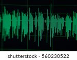 music green waves on background ... | Shutterstock . vector #560230522