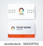 business card template... | Shutterstock .eps vector #560239702