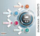german text industrie 4.0 ...   Shutterstock .eps vector #560245075