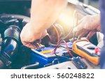 selective focus an auto... | Shutterstock . vector #560248822