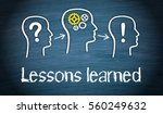 lessons learned   education and ...   Shutterstock . vector #560249632