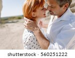 couple middle age years in... | Shutterstock . vector #560251222